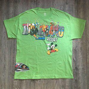 VTG Disneyland Resort WrapAround Lime Green TShirt